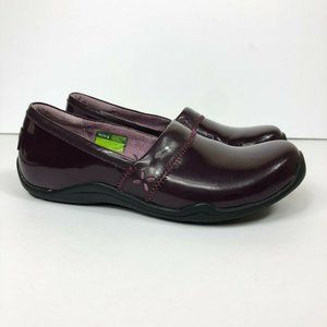 Ahnu Jackie Pro Flats Patent Leather Walking Shoes
